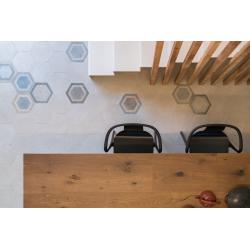 Carrelage hexagonal tomette décor 23x26.6cm BUSHMILLS - 0.504m² Vives Azulejos y Gres
