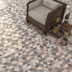 Carrelage hexagonal tomette décor 23x26.6cm FINGAL - 0.504m² Vives Azulejos y Gres