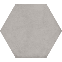 Carrelage hexagonal tomette décor 23x26.6cm BAMPTON Gris - 0.50m² Vives Azulejos y Gres