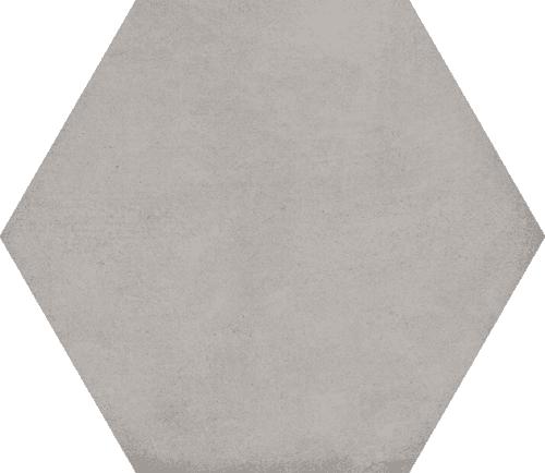 Carrelage hexagonal tomette décor 23x26.6cm BAMPTON Gris - 0.50m² - zoom