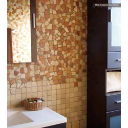 Mosaique Rocaplana - pierre rouge et beige 30x30 - boite de 0.72m² Decora