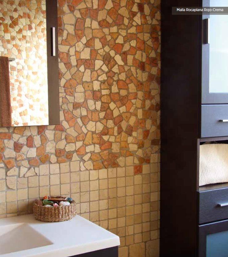 Mosaique Rocaplana - pierre rouge et beige 30x30 - boite de 0.72m² - zoom