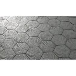 Pavé Gaudi hexagonal de Barcelone 14.4x25 cm ép. 3 cm - unité SAS-SA