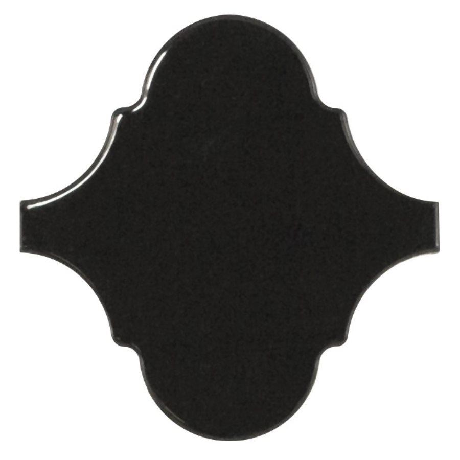 Carreau noir brillant 12x12cm SCALE ALHAMBRA BLACK - 21935 - 0.43m² - zoom