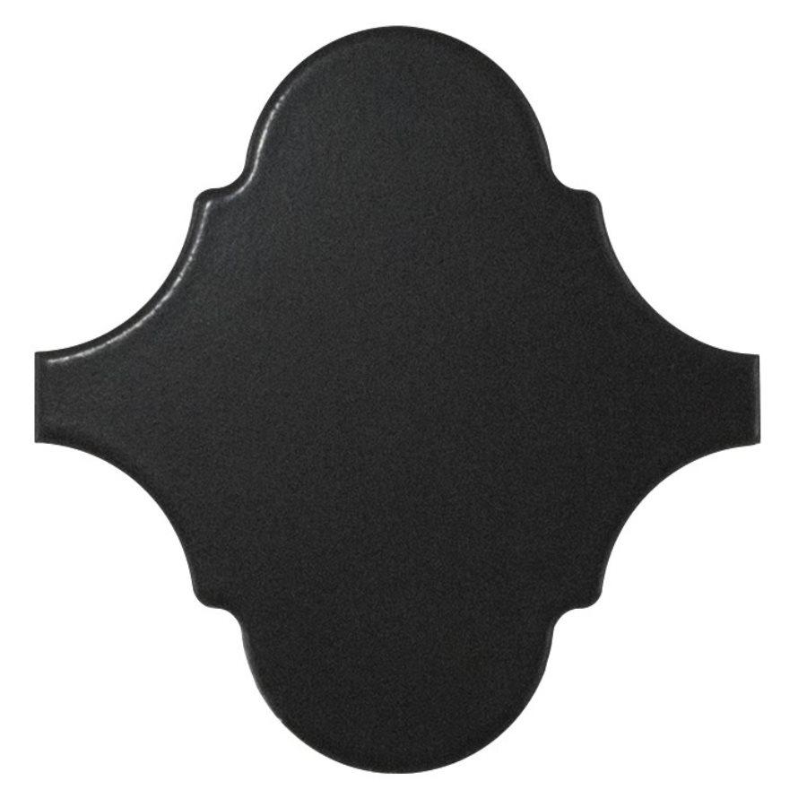 Carreau noir mat 12x12 SCALE ALHAMBRA BLACK MATT - 0.43m² - zoom