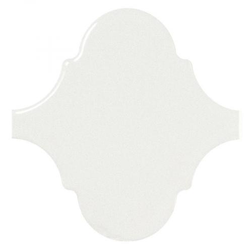 Carreau blanc brillant 12x12cm SCALE ALHAMBRA WHITE 21932 - 0.43m² Equipe