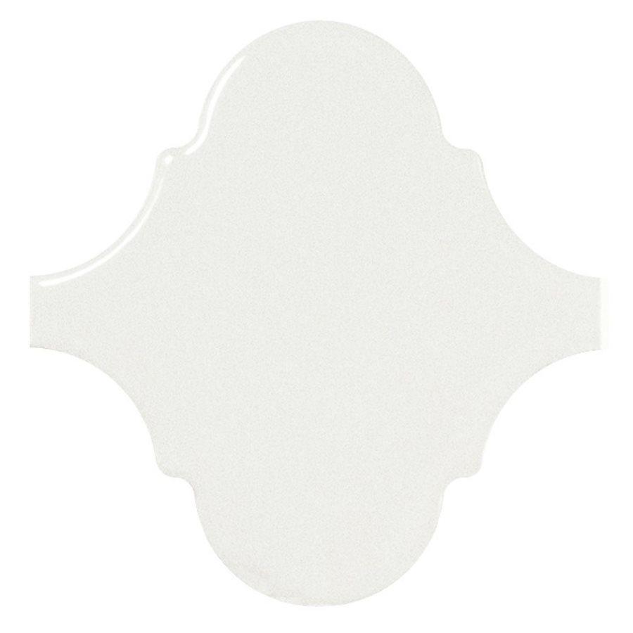 Carreau blanc brillant 12x12cm SCALE ALHAMBRA WHITE 21932 - 0.43m² - zoom
