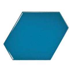 Carreau bleu électrique 10.8x12.4cm SCALE BENZENE ELECTRIC BLUE - 23834 - 0.44m² Equipe