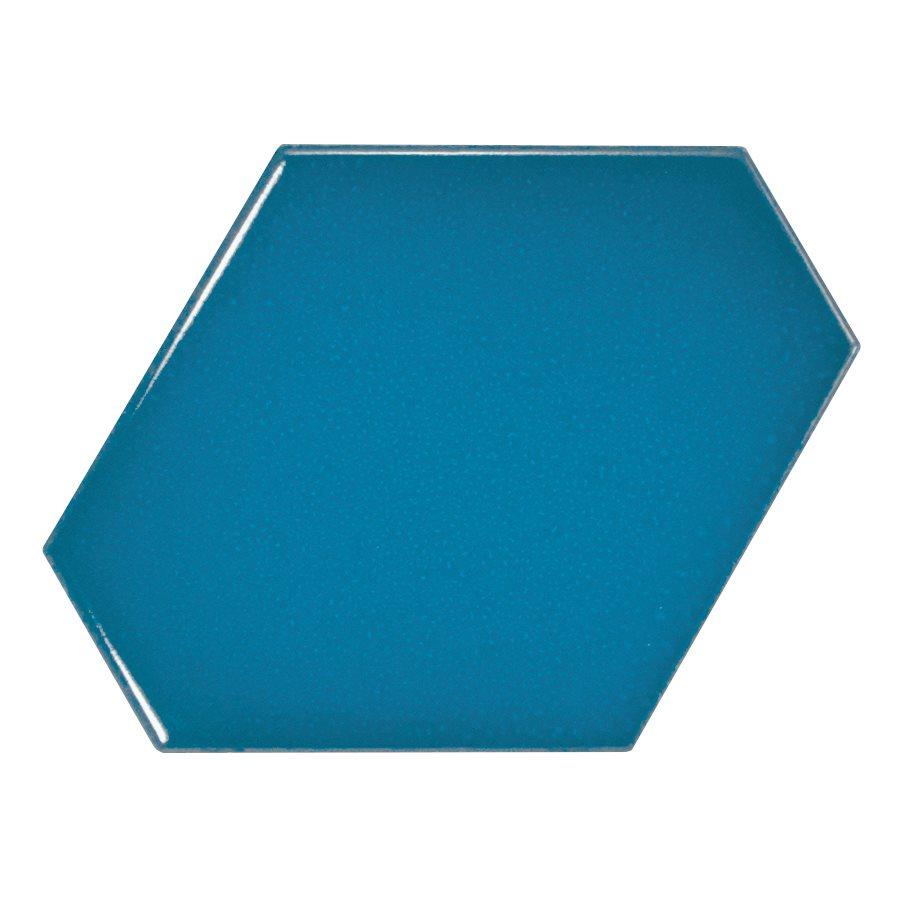 Carreau bleu électrique 10.8x12.4cm SCALE BENZENE ELECTRIC BLUE - 23834 - 0.44m² - zoom