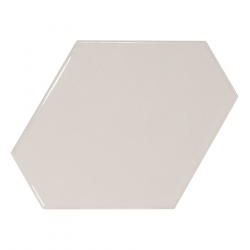 Carreau gris clair brillant 10.8x12.4cm SCALE BENZENE LIGHT GREY - 0.44m² Equipe
