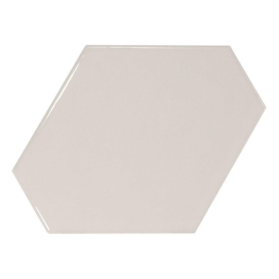 Carreau gris clair brillant 10.8x12.4cm SCALE BENZENE LIGHT GREY - 0.44m² - zoom