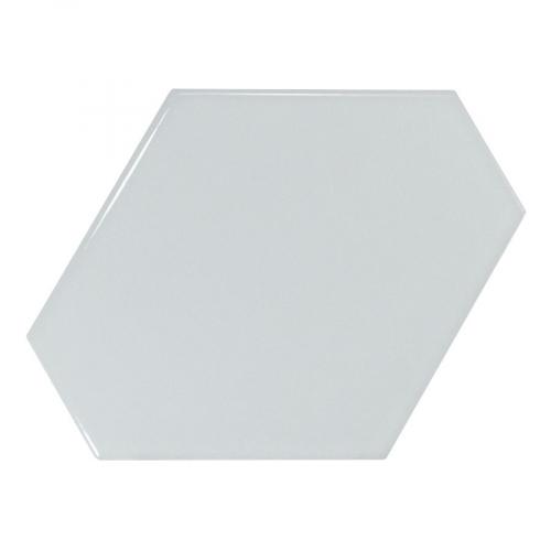 Carreau bleu ciel brillant 10.8x12.4cm SCALE BENZENE SKY BLUE - 23830 - 0.44m² Equipe