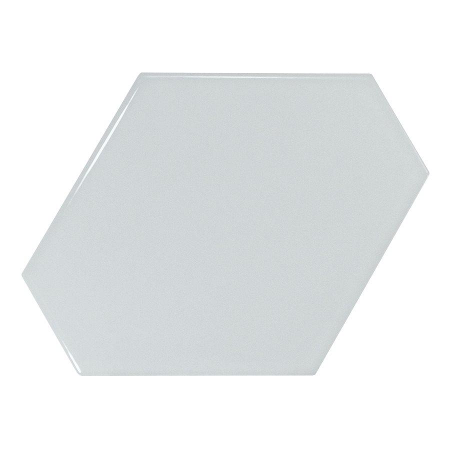 Carreau bleu ciel brillant 10.8x12.4cm SCALE BENZENE SKY BLUE - 23830 - 0.44m² - zoom