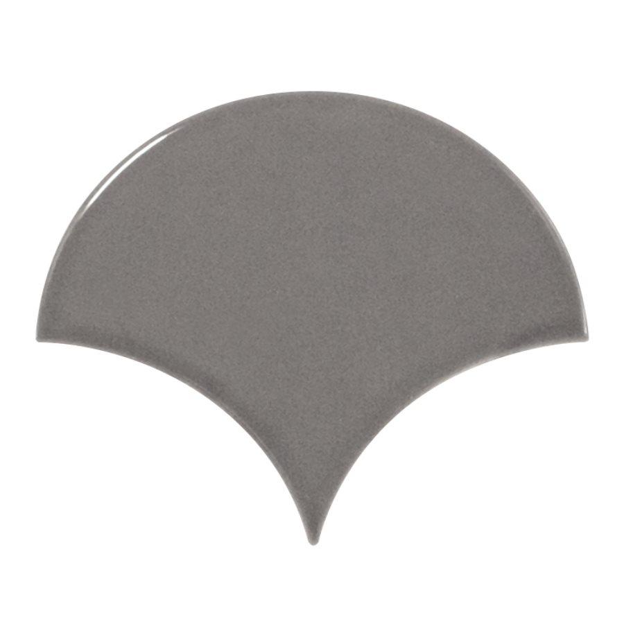Carreau gris foncé brillant 10.6x12cm SCALE FAN DARK GREY - 0.37m² - zoom