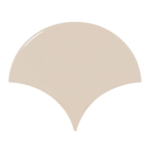 Carreau beige brillant 10.6x12cm SCALE FAN GREIGE - 0.37m² Equipe