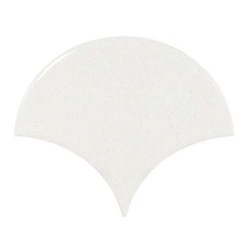Carreau blanc brillant 10.6x12cm SCALE FAN WHITE 21968 - 0.37m² Equipe