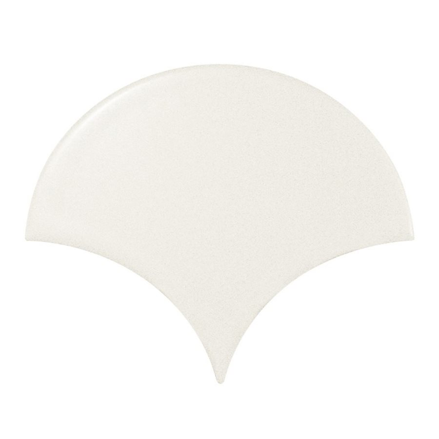 Carreau blanc mat 10.6x12cm SCALE FAN WHITE MATT 21977 - 0.37m² - zoom