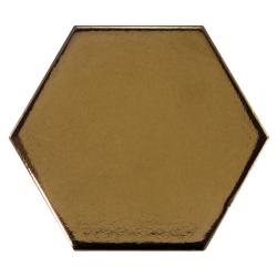 Carreau or métallisé 12.4x10.7cm SCALE HEXAGON METALLIC 23837 - 0.61m² Equipe
