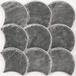 Carreau écaille effet pierre 30x30 SCALE SLATE BLACK - 0.75m Realonda