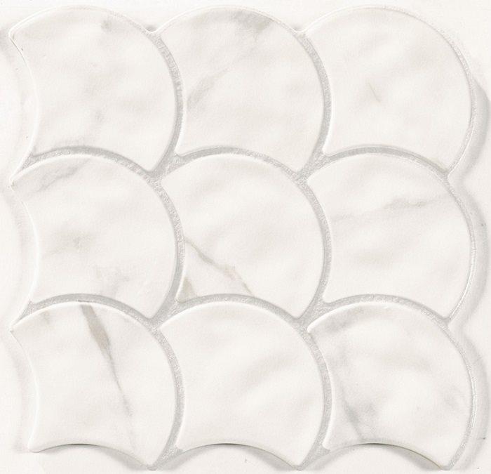 Carreau écaille marbré blanc gris 30x30 SCALE STATUARIO - 0.85m² - zoom