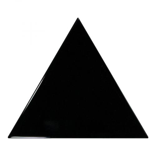 Carreau noir brillant 10.8x12.4cm SCALE TRIANGOLO BLACK - 0.20m² Equipe