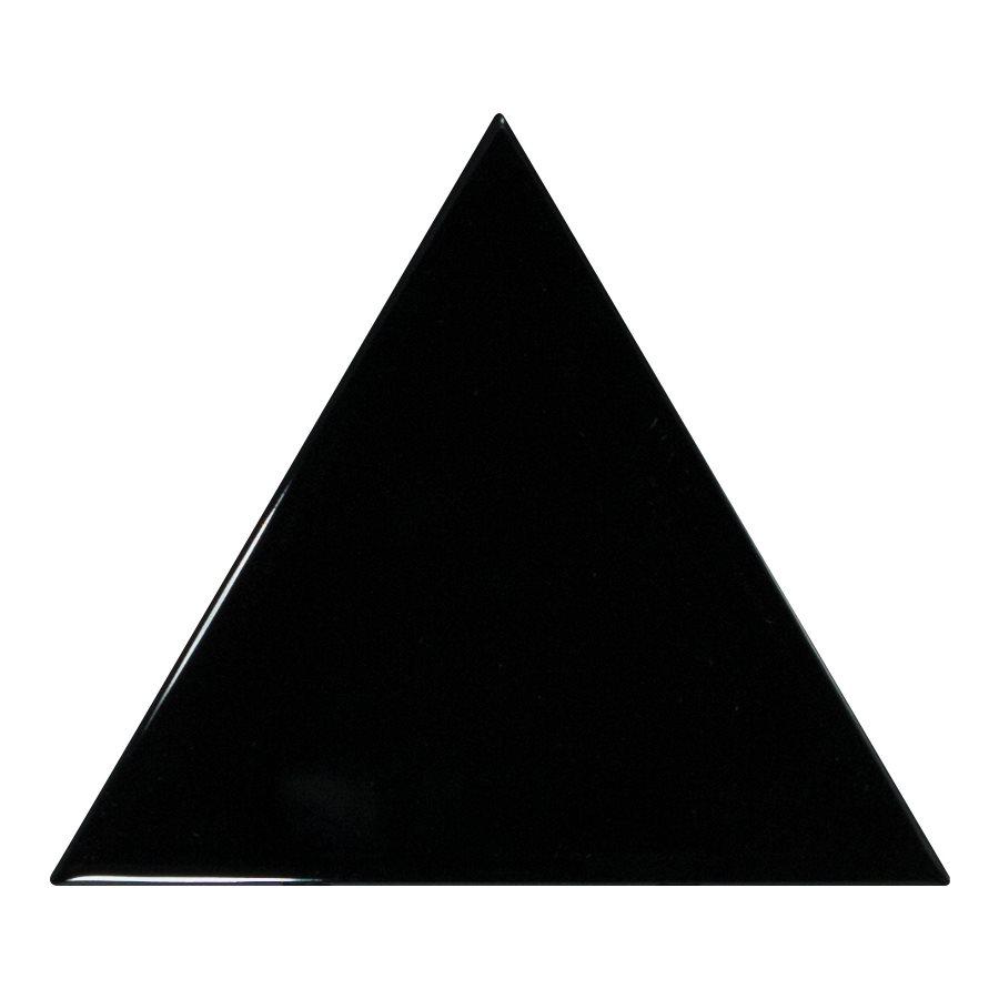 Carreau noir brillant 10.8x12.4cm SCALE TRIANGOLO BLACK - 0.20m² - zoom