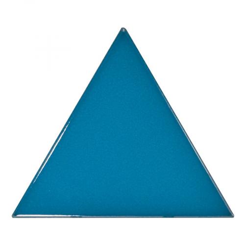 Carreau bleu électrique 10.8x12.4cm SCALE TRIANGOLO ELECTRIC BLUE - 0.20m² Equipe