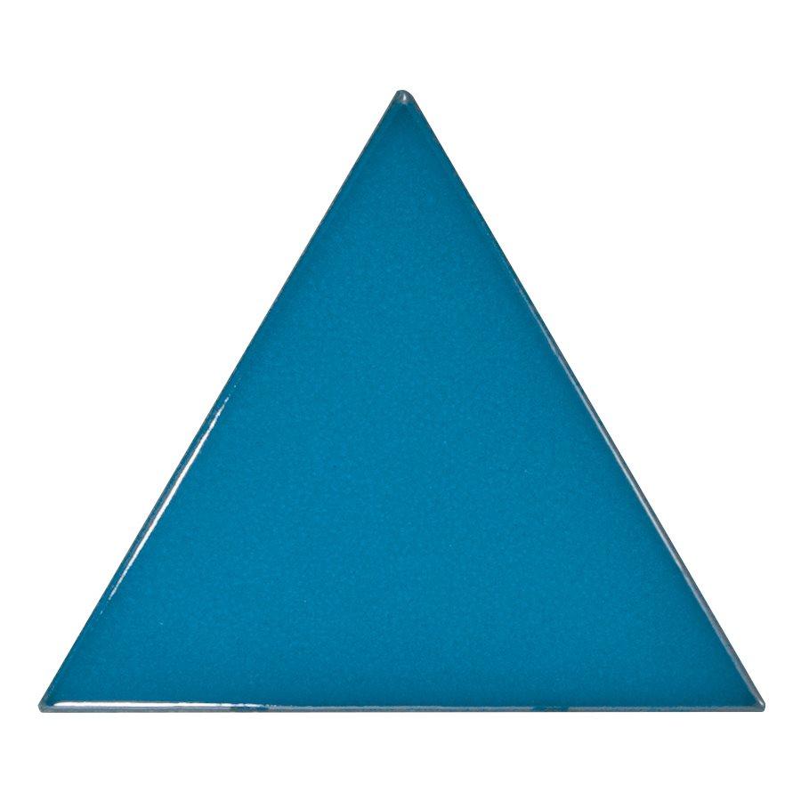 Carreau bleu électrique 10.8x12.4cm SCALE TRIANGOLO ELECTRIC BLUE - 0.20m² - zoom