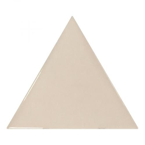 Carreau beige brillant 10.8x12.4cm SCALE TRIANGOLO GREIGE - 0.20m² Equipe