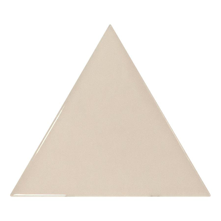 Carreau beige brillant 10.8x12.4cm SCALE TRIANGOLO GREIGE - 0.20m² - zoom