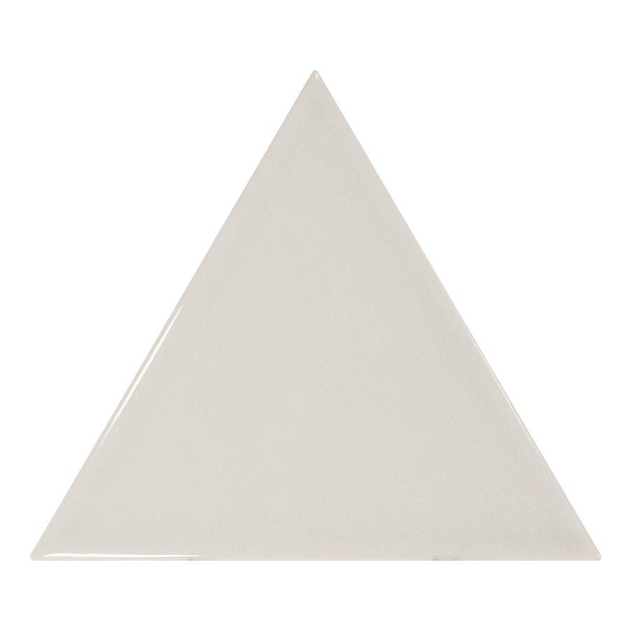 Carreau gris clair brillant 10.8x12.4cm SCALE TRIANGOLO LIGHT GREY - 0.20m² - zoom