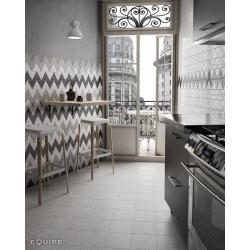 Carreau gris clair brillant 10.8x12.4cm SCALE TRIANGOLO LIGHT GREY - 0.20m² Equipe