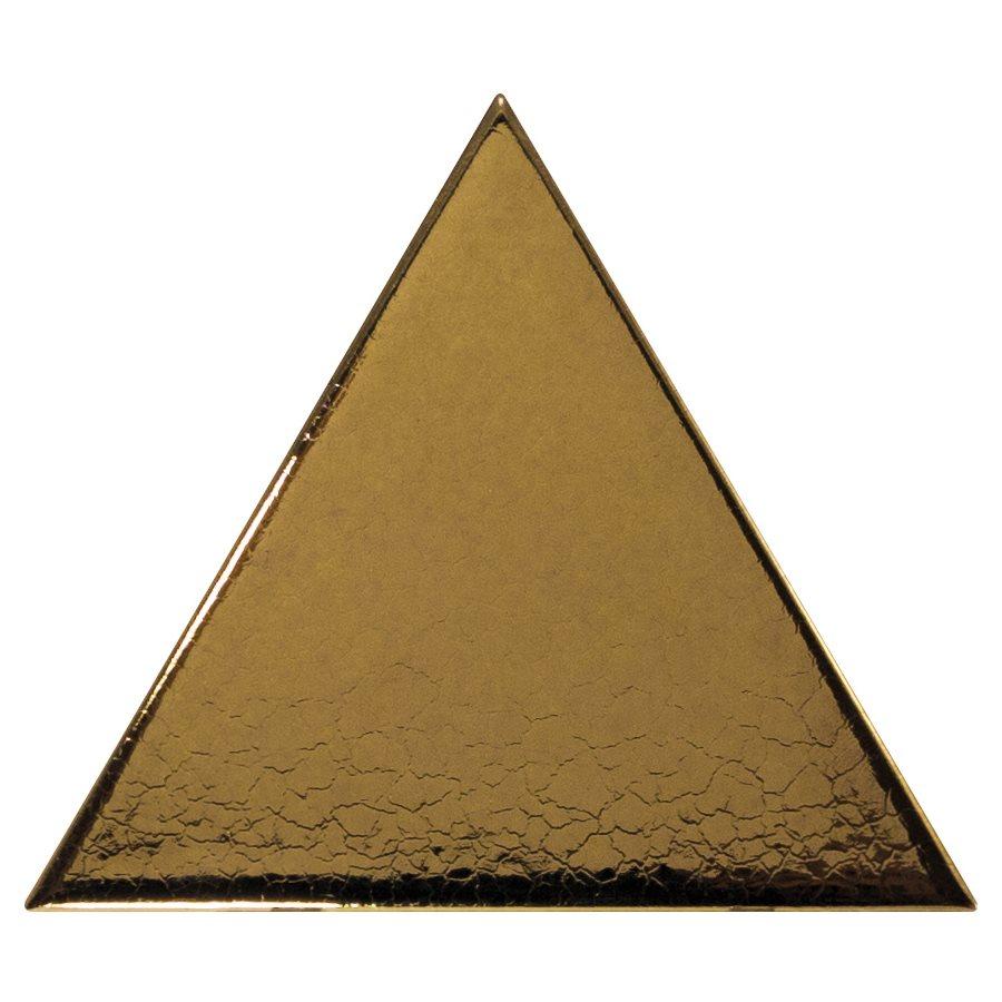 Carreau or métallisé 10.8x12.4cm SCALE TRIANGOLO METALLIC - 0.20m² - zoom