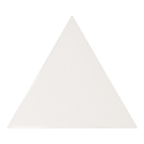 Carreau blanc brillant 10.8x12.4cm SCALE TRIANGOLO WHITE - 0.20m² Equipe