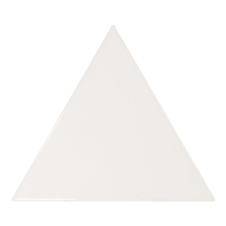 Carreau blanc brillant 10.8x12.4cm SCALE TRIANGOLO WHITE - 0.20m² - zoom