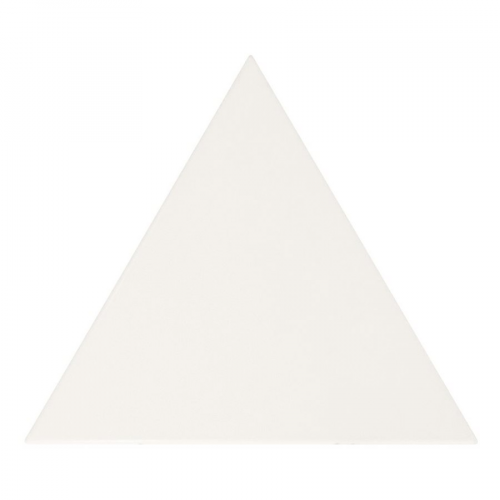 Carreau blanc mat 10.8x12.4cm SCALE TRIANGOLO WHITE MATT 23811 - 0.20m² Equipe