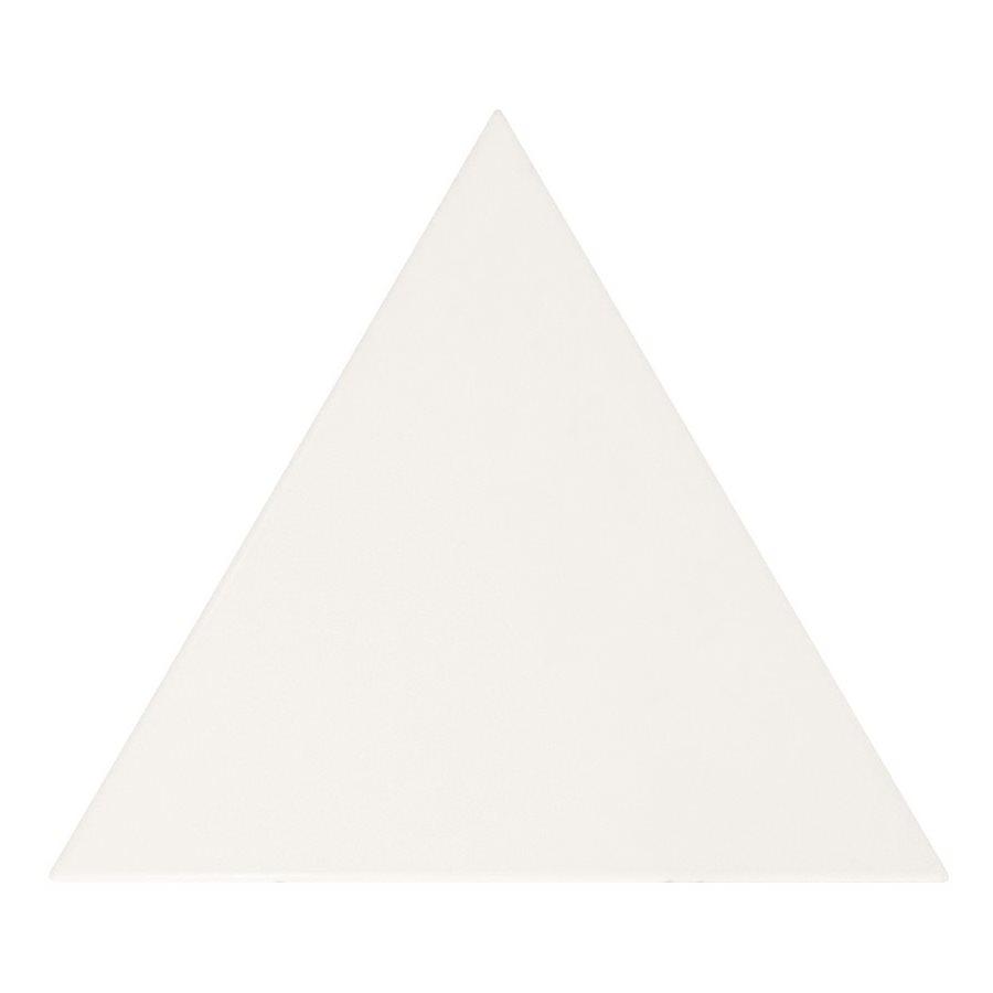 Carreau blanc mat 10.8x12.4cm SCALE TRIANGOLO WHITE MATT 23811 - 0.20m² - zoom