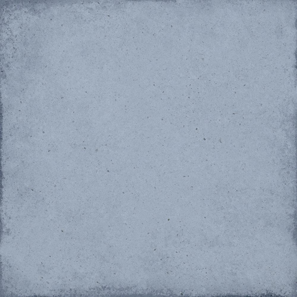 Carrelage uni vieilli bleu ciel 20x20 cm ART NOUVEAU SKY BLUE 24389 - 1m² - zoom