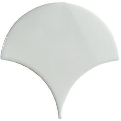 Carreau écaille blanc riz 12.7x6.2 SQUAMA LUZ pour sol - 0.35m² Natucer