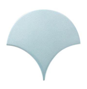 Carreau écaille bleu clair nuancé 12.7x6.2 SQUAMA MAYA - 0.377m² - zoom
