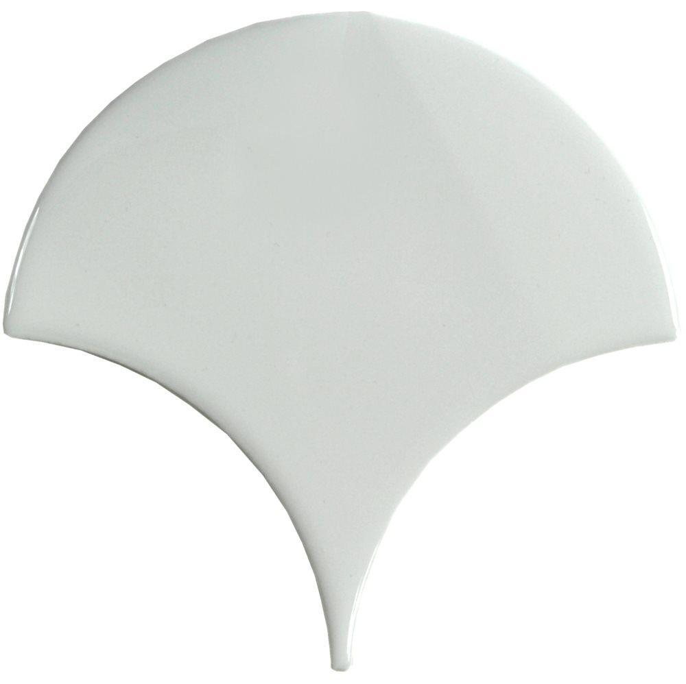 Carreau écaille blanc riz 12.7x6.2 SQUAMA RICE - 0.377m² - zoom