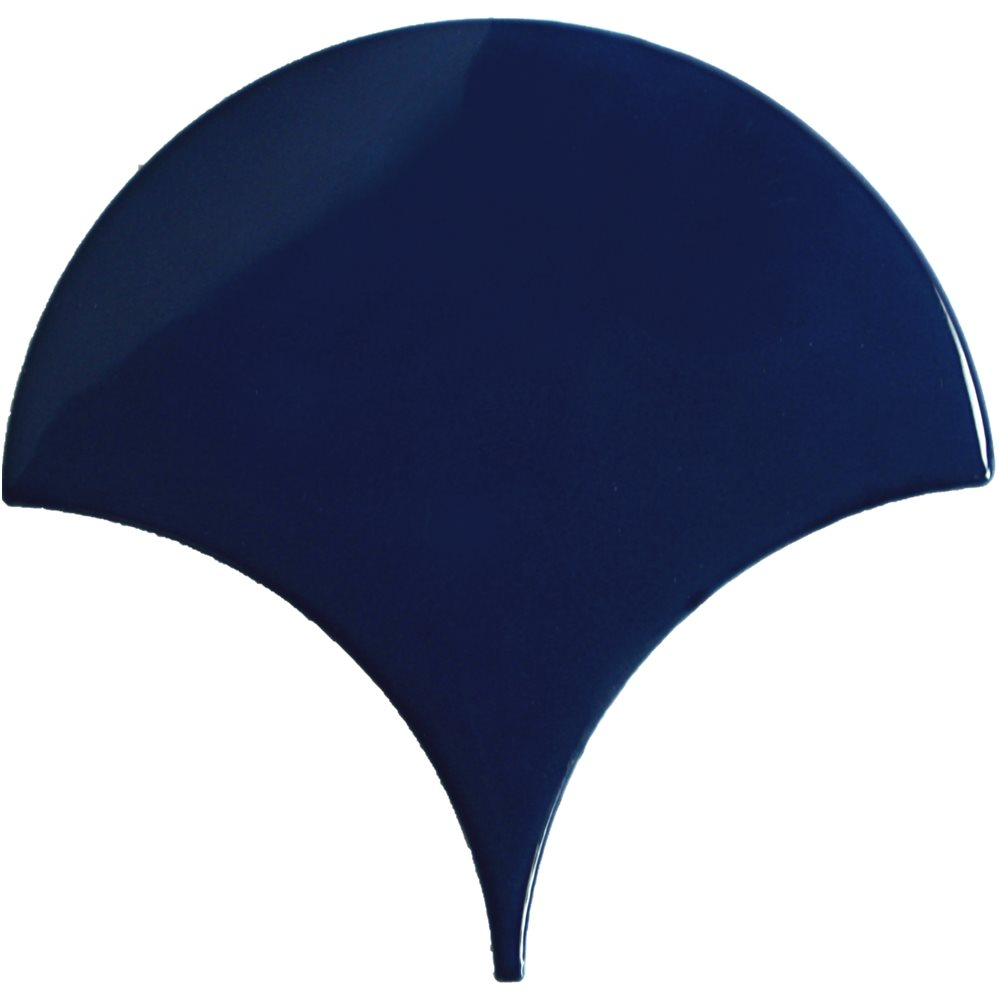 Carreau écaille bleu marine nuancé 12.7x6.2 SQUAMA TURCHESE - 0.377m² - zoom