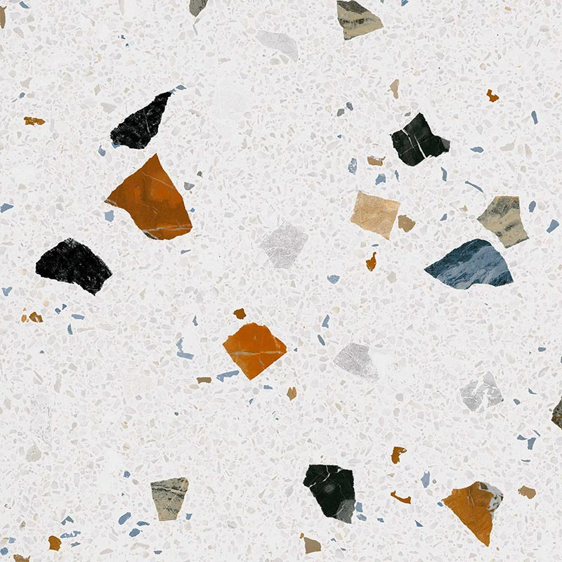 Carreau style granito coloré 80x80 cm STRACCIATELLA-R Nacar R10 - 1.28m² - zoom
