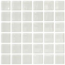 Mosaique blanche 5x5 sur trame 30.7x30.7 BLANCO A-10 - 2 m² ASDC