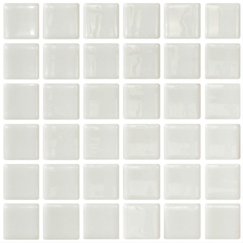 Mosaique blanche 5x5 sur trame 30.7x30.7 BLANCO A-10 - 2 m² - zoom