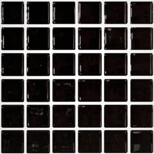 Mosaique noire 5x5 sur trame 30.7x30.7 NEGRO A-11 - 2 m² ASDC