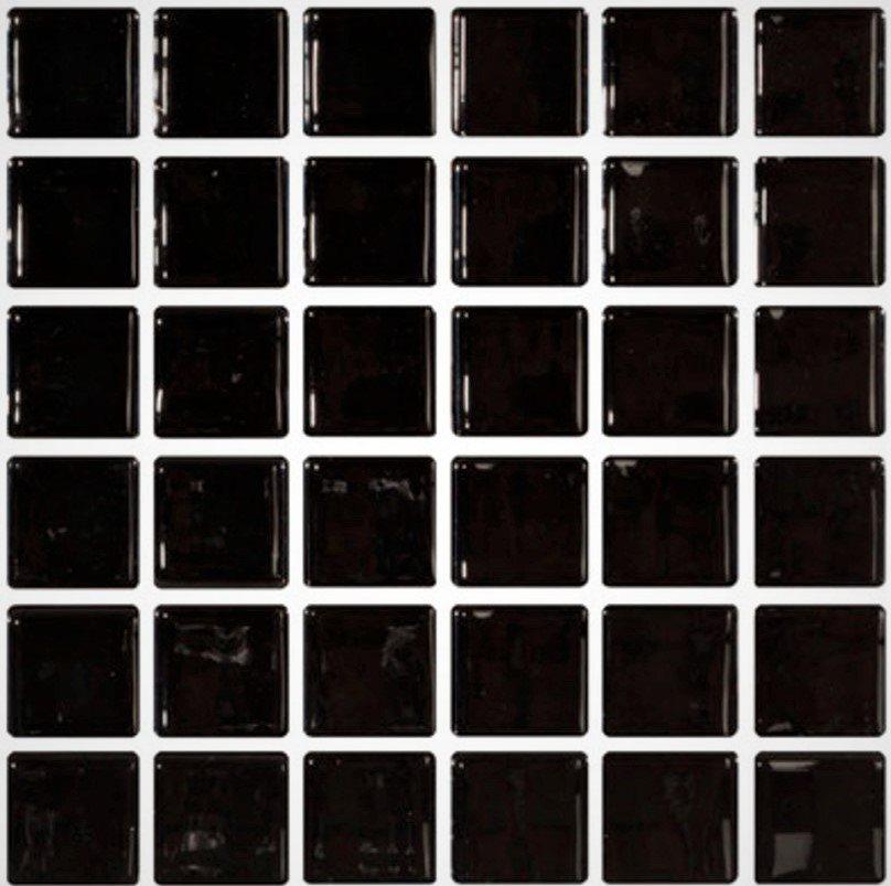 Mosaique noire 5x5 sur trame 30.7x30.7 NEGRO A-11 - 2 m² - zoom