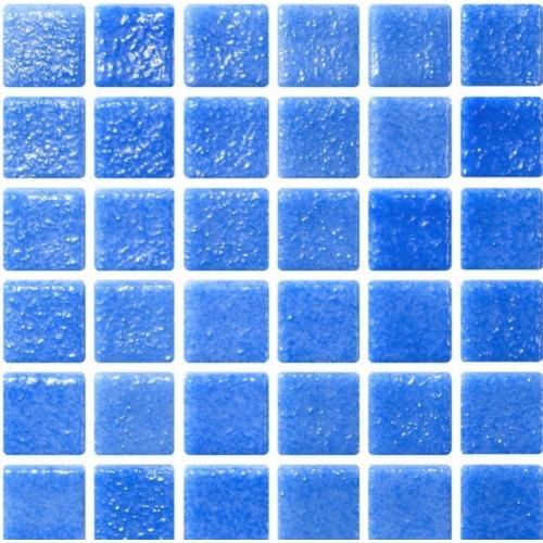Mosaique bleu azur 5x5 sur trame 30.7x30.7 NIEBLA AZUL A-10 - 2 m² ASDC