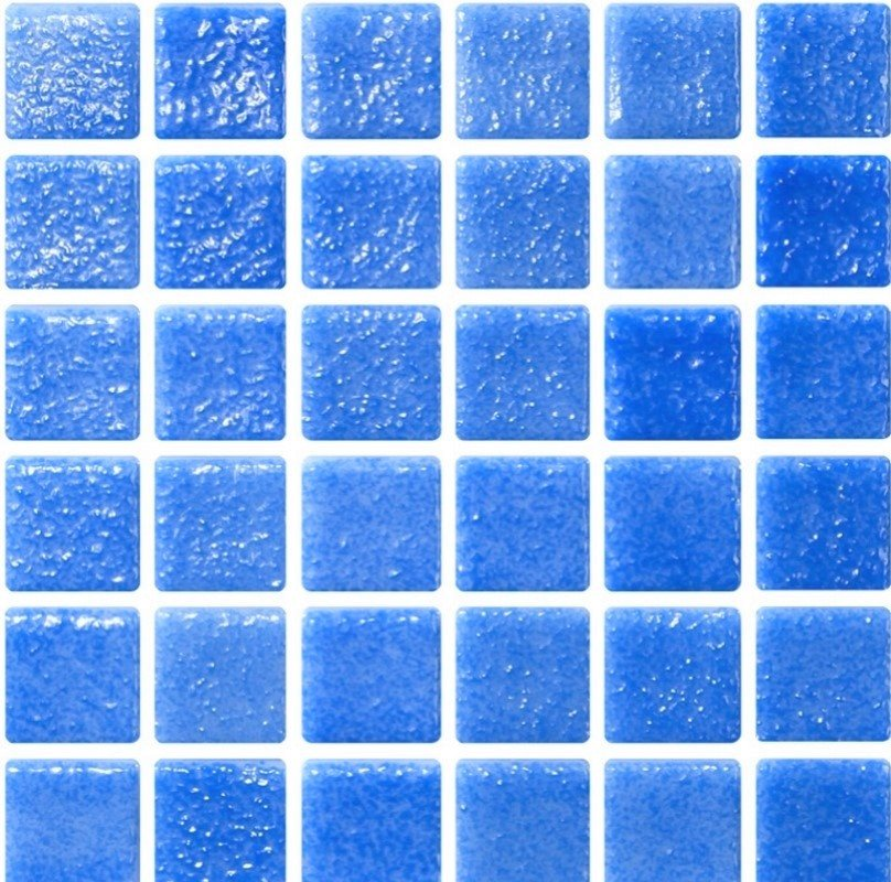 Mosaique bleu azur 5x5 sur trame 30.7x30.7 NIEBLA AZUL A-10 - 2 m² - zoom