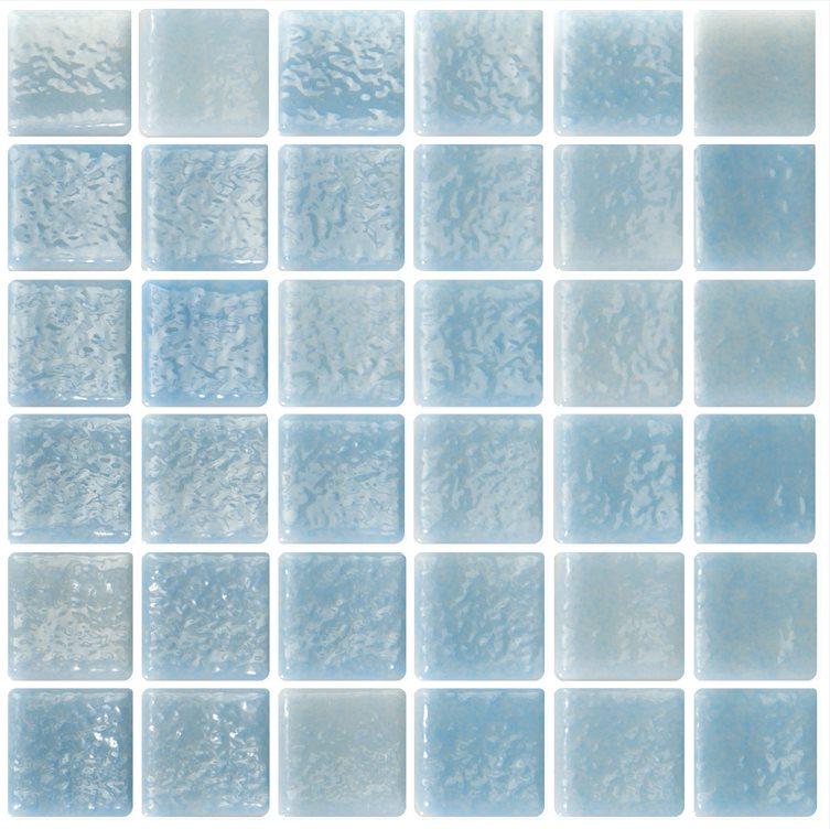 Mosaique bleu ciel 5x5 sur trame 30.7x30.7 NIEBLA PISCINA A-10 - 2 m² - zoom